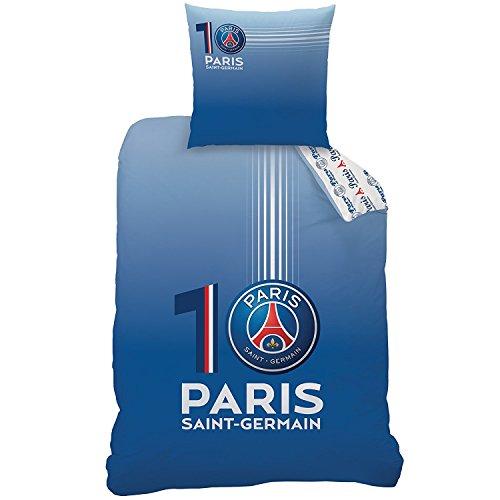 PSG - Housse de Couette (140x200) + Taie d'Oreiller (63x63) - 100% Coton - Parure de Lit Numero 10