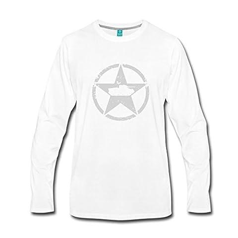 World Of Tanks Char Américain Sur Étoile T-shirt manches longues Premium Homme de Spreadshirt®, 4XL, blanc