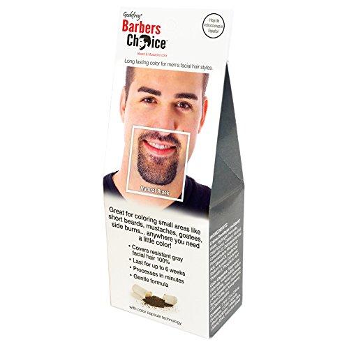 Godefroy barberos elección de barba y bigote único Kit de aplicación para hombres, color negro