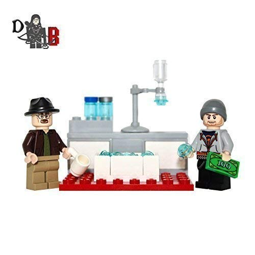 Custom Breaking Bad Walter weiß& Jesse Pinkman Minifiguren mit mini labor