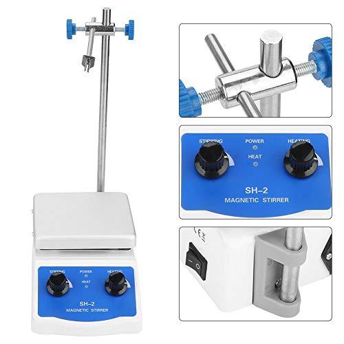 220V Magnetrührer Labor Konstanttemperaturheizung Heizplatte aus EdelstahlHöhe 39,5 cm,20,5 * 12,3 cm