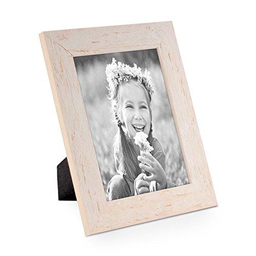 Bilderrahmen 15x20 cm Strandhaus Rustikal Weiss Massivholz mit Glasscheibe inkl. Zubehör / Fotorahmen (Rahmen Holz Rustikale)