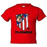 Camiseta niño Atlético de Madrid El Escudo del Atleti clásico personalizable con nombre - Rojo, 3-4 años
