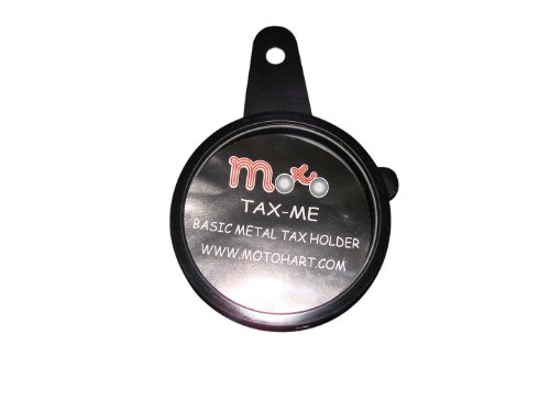 Metal Black TAX DISC HOLDER for Motorcycle Motorbike Scooter ATV Universal Tax Disc Holder