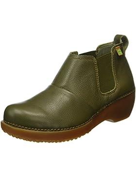 El Naturalista Damen Nc70 Soft Grain Kaki/Tricot Chelsea Boots