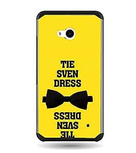 Fuson Tie Dress Quote Designer Back Case Cover for Microsoft Lumia 640 LTE (Love Quotes Inspiration Emotion Care Fun Funny)