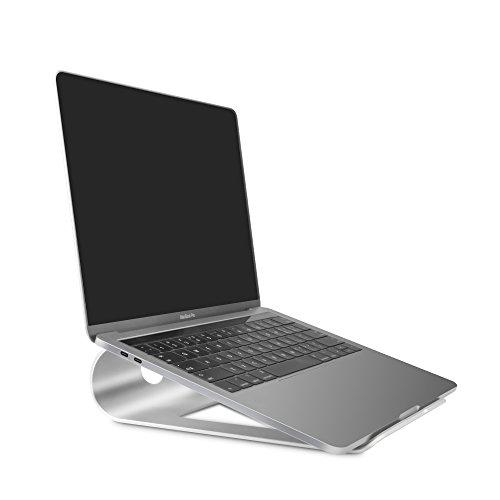 Sausire Support D'ordinateur Portable, Support de Refroidissement de Bureau en Alliage d'Aluminium Portatif –Support Universel pour Ordinateurs, Tablettes, Netbook, Livres ou Comme Pupitre / Table de Lit