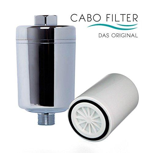 Original Cabo Filter - Set: Basic, Wasserfilter für die Dusche, Duschfilter, anti Kalk, Kalkfilter, anti Chlor, Chlorfilter, Duschwasserfilter für geschmeidiges Haar nach dem Duschen - Cabofilter