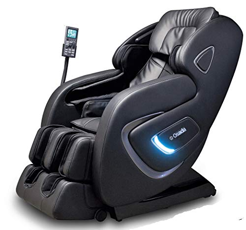 Osada India Plus 3D Full Body Automatic Massage Chair with 6 Back Rollers, Foot Rollers, Zero Gravity, Auto, Manual, Stretch Mode (Black)