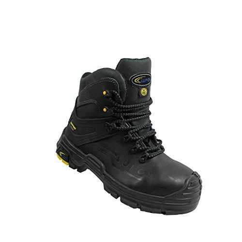 Lupos magnum berufsschuhe businessschuhe s3 sRC chaussures de chaussures de sécurité chaussures de travail noir Noir - Noir