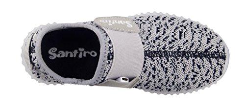 Santiro Chaussures à LED unisexe à recharge USB Gris