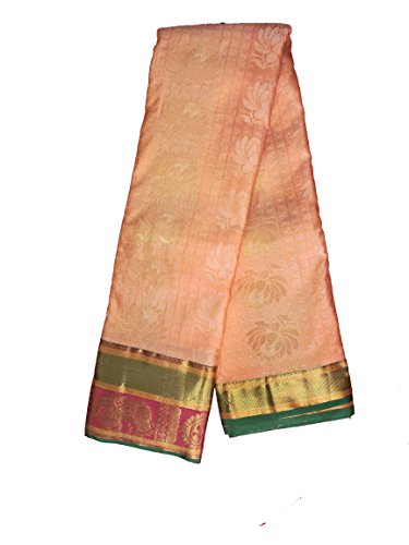 Sreenivasa Sarees Womens Pure Pattu Cream and Pink Color Hand Woven Saree