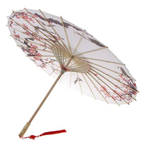non-brand MagiDeal Vintage Regenschirm Sonnenschirm Tanz Schirm Deko Sschirm Papierschirm, Chinesischer Stil Muster - 1