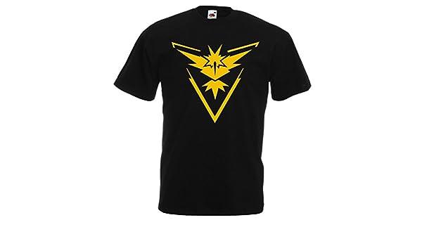 Pokemon Team Valor Crest GoTshirts Black Mens