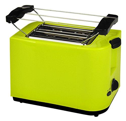 Efbe-Schott, 2-Scheiben Toaster, Brötchenaufsatz, Krümelschublade, 700 W, Zitronengrün, SC TO 5000 LEMONE (Toaster-4-scheiben-grün)
