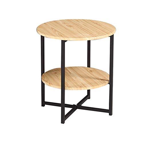 Beistelltische, Tische Hochglanz-Couchtisch-Set Satztische Couchtisch aus Holz Beistelltische für das Wohnzimmer, multifunktionaler Beistelltisch (Farbe: Holzfarbe + Schwarz, Größe: 40 * 40 * 47 cm) Yellow Tea Platte