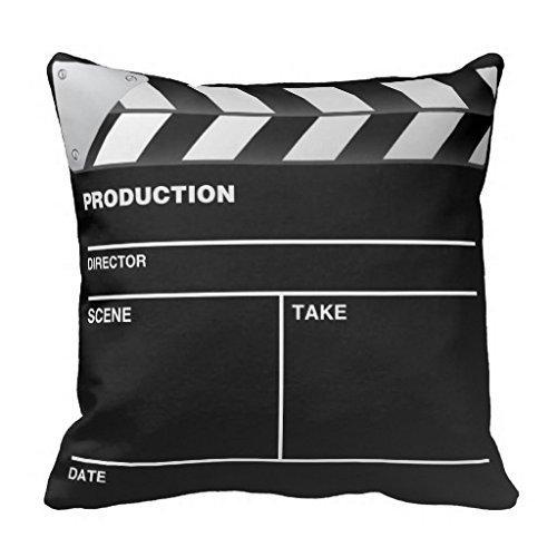 GONIESA 18x18 Inch/45cmx45cm Movie Maker Clap Board Throw Pillow Decorative Throw Pillow Case Cushion Cover