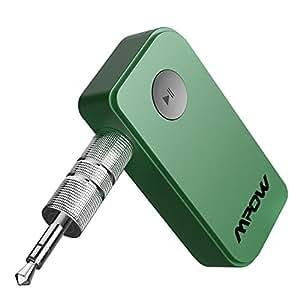 Mpow Ricevitore Bluetooth 4.1 A2DP, ricevitore bluetooth per Auto Audio Adattatore Portatile, Musica Stereo con 3,5 mm Jack per iPhone 8/7/6 Samsung ed altri Smartphone per Altoparlanti Auto