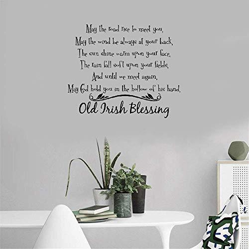 Wandtattoo Kinderzimmer Irischer Segen Wohnzimmer Schlafzimmer Old Irish Segen sagen Inspiration Motivation Zitat Dekor