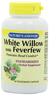 Nature's Answer White Willow, W/Feverfew Standardized 60 Vcaps from Nature's Answer