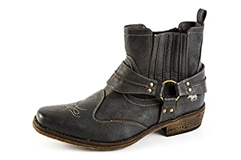 Mustang Herren Western Boots Stiefel Grau Gr. 42