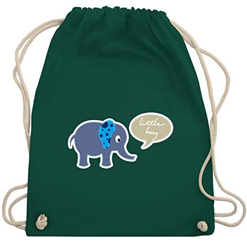 Up to Date Kind - Elefant blau little boy - Unisize - Dunkelgrün - WM110 - Turnbeutel & Gym Bag