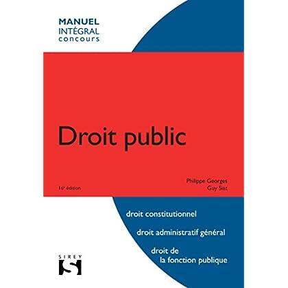 Droit public - 16e éd.: Intégral concours
