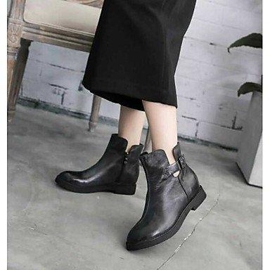 Stivaletti Donna Slingback in PU Nero con tacco nero casual Black