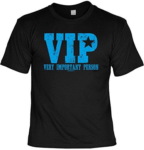 Spaß/Fun-Shirt /lustige Sprüche-Shirt mit Aufdruck: VIP Very Important Person - geniale Geschenkidee Schwarz