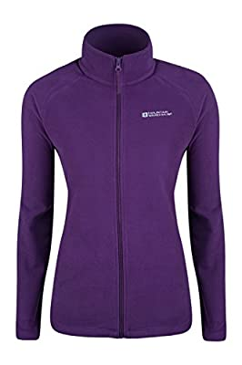 Mountain Warehouse Stylish Raso Womens Fleece – Lightweight Ladies Jacket, Quick Drying Coat, Waterproof Raincoat, Soft & Smooth - Ideal for Travelling, Walking