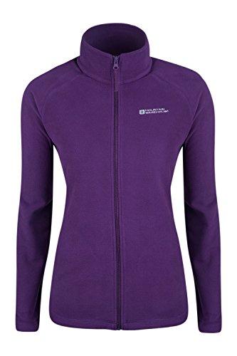 Mountain Warehouse Stylish Raso Womens Fleece – Lightweight Ladies Jacket, Quick Drying Coat, Waterproof Raincoat, Soft & Smooth - Ideal For Travelling, Walking
