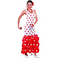 NET TOYS Vestito di Flamenco Costume da Spagnola L 46 48 - Ballerina di  Flamenco 74979efd2f94