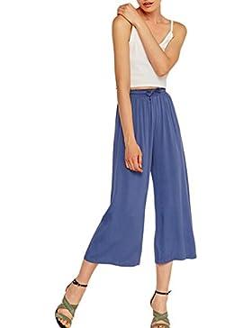 Yacun Pantalones De Pierna Ancha Cintura Alta Pantalones Cosechados De Trabajo para La Mujer Casual