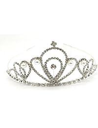 Satyam Kraft Designer Party Wear Hair Accessories Tiara/Crown/Hairband/ For Women And Girls