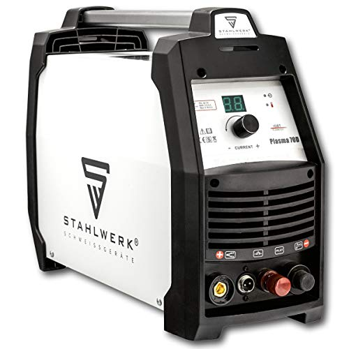 STAHLWERK CUT 70 D Pilot - Digital Plasmaschneider 70 Ampere bis 24 mm Schneidleistung, für lackierte Bleche & Flugrost geeignet, 5 Jahre Garantie