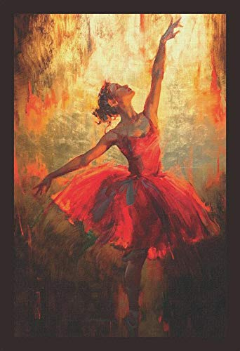 Mad Masters # A Beautiful Dancing Girl Framed Painting (Wood, 19 inch x 13 inch, Textured UV Reprint)