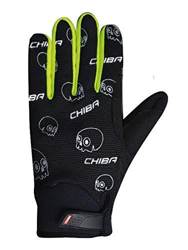 Chiba Bones Kinder Fahrrad Handschuhe lang schwarz/gelb 2016: Größe: L (6)