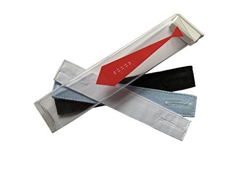 Krawatten-Halter - The Tie Thing ® - Die unsichtbare & dezente Krawattennadel! - 3er Pack (Weiß/Blau/Schwarz)