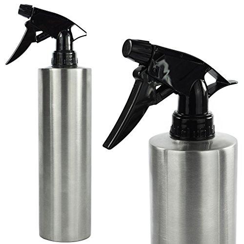 Sprühflasche Zerstäuber 500ml mit Sprühkopf Edelstahl Friseur Flasche Sprüher Blumen Pflanzen Haare Sprayer Wasser Wassersprüher Pflanzensprüher - - Garten Pumpe-sprayer