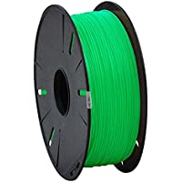 Dream Polymers 3D Printer Filament PLA 1.75 mm 1.4KG Total weight, Glow In The Dark Green Color filaments