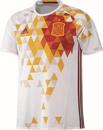 adidas Herren UEFA EURO 2016 Spanien Auswärtstrikot Replica, weiß/rot, 3XL, AA0830