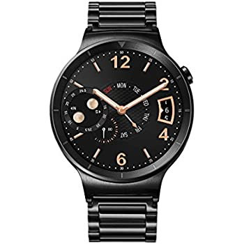 """Huawei Watch Active - Smartwatch Android (pantalla 1.4"""", 4 GB, 512 MB RAM), correa de acero, color negro"""