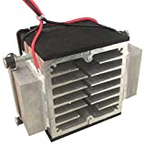 Halbleiter-Kühlplatte Kleine Klimaanlage Wärmeableitungsmodul Tragbarer 12V-Kühlschrank Produktionselektronik-Kit - Schwarz