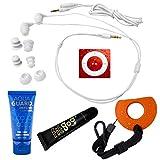 Underwater Audio - Waterproof iPod Shuffle (Red), Swimbuds headphone bundle