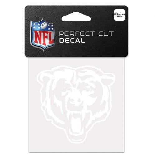 e NFL weiß 10,2x 10,2cm Auto Aufkleber, Chicago Bears ()