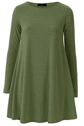 Generic - Robe - Robe de swing - Femme Vert - Kaki