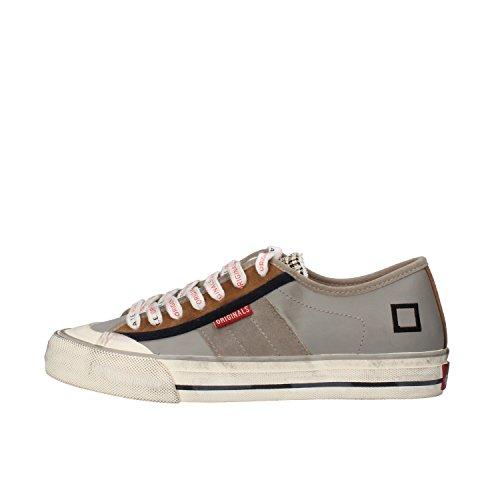 D.A.T.E. (DATE) 37 EU sneakers blu verde grigio marrone pelle camoscio (37 EU, Grigio)