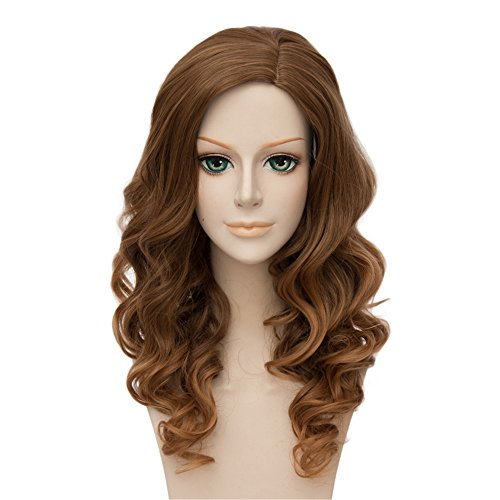 �cke Harry Potter Hermione Granger Brown Lange Perücke Clip Cosplay Party Fashion Anime Human Costume Full wigs Synthetic Haar Heat Resistant Fiber (Harry Potter Halloween Kostüme Einfach)