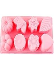 Auket 8 Coeur Formes Fondant Savon Sugarcraft Gâteau décoration de biscuits de moule de silicone # 129