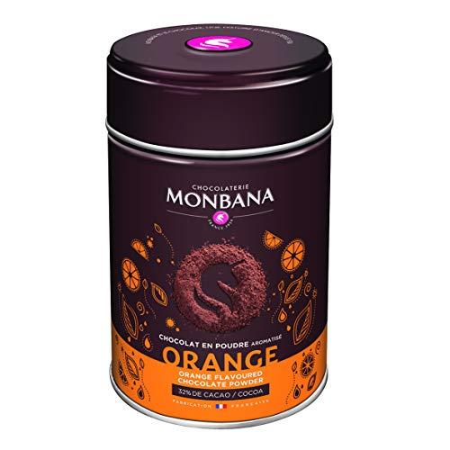 Monbana Chocolat Poudre Orange 250g (min. 32% Cacao), 1er Pack (1x 250g)
